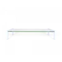 MEC - TB532W USB HUB Multi-purpose Glass / Monitor Stand - White  (53 x 25.2 x 9cm)