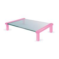 MEC - TB501PC Multi-purpose Glass / Monitor Stand - Pearl Pink   (35 x 25.2 x 9cm)