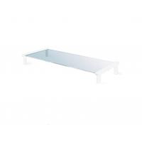 MEC - TB502W Multi-purpose Glass / Monitor Stand - White(53 x 25.2 x 9cm)