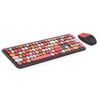 MOFII 666 COLOURFUL 2.4G Wireless keyboard mouse combo set - Black(780-4043)
