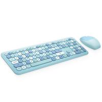MOFII 666 COLOURFUL 2.4G Wireless keyboard mouse combo set - Blue(780-4044)