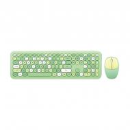 MOFII 666 COLOURFUL 2.4G Wireless keyboard mouse combo set - Green(780-4045)
