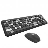 MOFII 666 COLOURFUL 2.4G Wireless keyboard mouse combo set - Grey(780-4041)