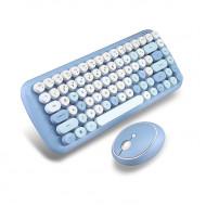 MOFii CANDY COLORFUL 2.4G Wireless Keyboard Mouse Combo Set - Blue