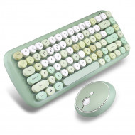 MOFii CANDY COLORFUL 2.4G Wireless Keyboard Mouse Combo Set - Green