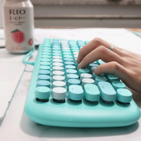 MOFII CANDY M Wired White Light Mechanical Keyboard-Blue(780-4050)