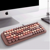 MOFII CANDY M Wired White Light Mechanical Keyboard-Brown(780-4049)