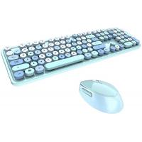MOFII SWEET COLORFUL 2.4G Wireless keyboard mouse combo set - Blue Colorful (780-4016)