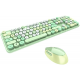 MOFII SWEET COLORFUL 2.4G Wireless keyboard mouse combo set - Green Colorful (780-4015)