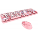 MOFII SWEET COLORFUL 2.4G Wireless keyboard mouse combo set - Pink Colorful (780-4014)
