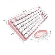 MOFII SWEET 2.4G Wireless keyboard mouse combo set - Pink (780-4009)