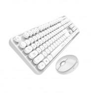 MOFII SWEET 2.4G Wireless keyboard mouse combo set - White (780-4012)