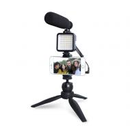 MAONO Professional Vlog Microphone with LED Light Set (AU-CM11PL)