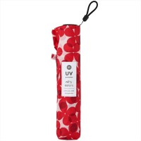 NIFTY COLORS Smart Light Flower Layer Carbon Mini Umbrella - Red