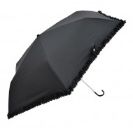 NIFTY COLORS Lace Hook Trifold Umbrella - Black