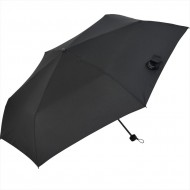 Nifty Colors Trifold Rain Umbrella with Water-absorbing Umbrella Cover - Black