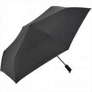 NIFTY COLORS Automatic Opening and Closing Trifold Umbrella- Black