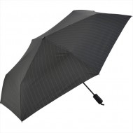 NIFTY COLORS Stripe Automatic Opening & Closing Trifold Umbrella -Black