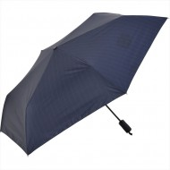 NIFTY COLORS Stripe Automatic Opening & Closing Trifold Umbrella -Navy
