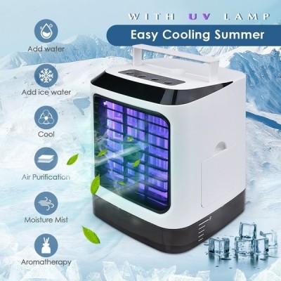 Portable UV Light Sterilization Mini Air Cooler and Humidifier