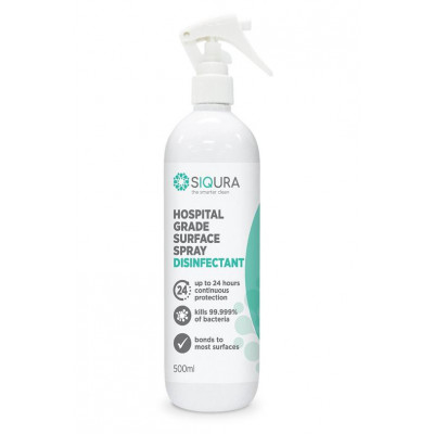 SIQURA Hospital Grade Surface Disinfectant & Protectant - 500ml