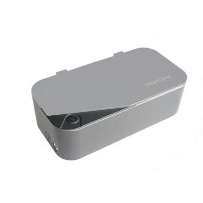 (Limited)SMARTCLEAN Eyeglasses Ultrasonic Cleaner Version 7 Upgrade version Silver