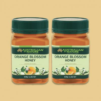 [2pcs Pack] Australian By Nature Orange Blossom Honey 500g