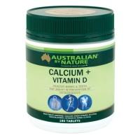 Australian by Nature Calcium 1500mg + Vitamin D500iu 180 Tablets