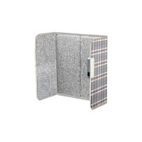 ecostar Foldable Far-infrared Heater for One Person (Grey Check Color)