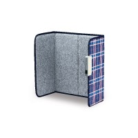 ecostar Foldable Far-infrared Heater for One Person (Navy Check Color)